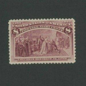 1893 United States Postage Stamp #236 Mint VF Never Hinged Gum Transfer