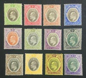 MOMEN: SOUTHERN NIGERIA SG #21-32ab 1904-09 MINT OG H £550 LOT #61303