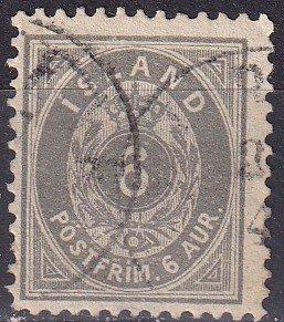 Iceland #25 F-VF Used CV $19.00  (Z9428)
