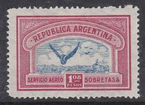 ARGENTINA ^^^^^^  sc# C16   mint  LH  AIRPOST  ( one PESO  08 )$$@ ta1408arg
