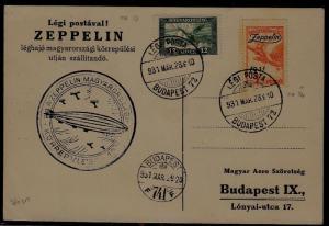 Hungary Zeppelin card 28.3.31 Budapest741