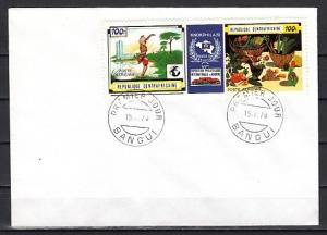 Central Africa, Scott cat. C82. Dancer, Stamp Expo issue. First day cover.