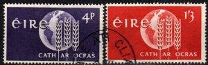 Ireland #186-7 F-VF Used CV $3.25 (X4156)