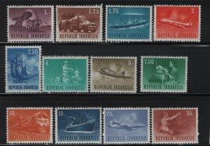 Indonesia 626-637 (12) Set, Hinged, 1964 Military