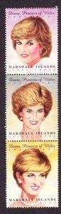 Marshall Islands #645 Princess Diana MNH vertical strip of 3