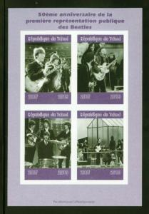 CHAD 2019 50th ANNIVERSARY OF THE BEATLES  SHEET IMPERFORATE   MINT NEVER HINGED