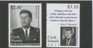 Cook Isl. MNH 1476-7 John F. Kennedy SCV 9.00