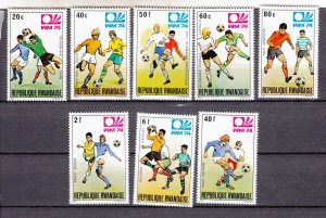 J27595 1974 rwanda set mh #579-86 sports