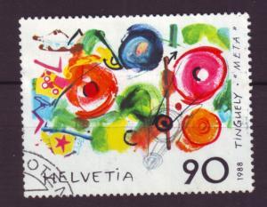 J18541 JLstamps 1988 switzerland set of 1 used #828 art