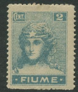 Fiume - Scott 27 - Definitive Issue -1919 - MLH - Single 2c Stamp