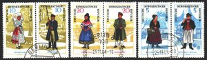 GDR. 1964. 1074-79. National costumes. USED.