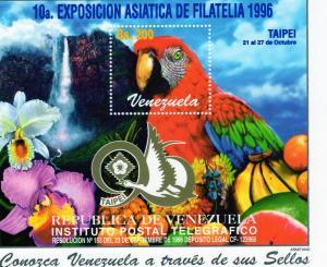 Venezuela 1996 Birds PARROTS s/s Perforated mnh.vf
