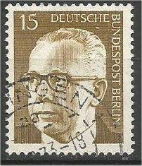 BERLIN, 1970, used 15pf Pres Heinemann Scott 9N286A