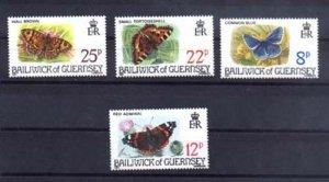 024508 BUTTERFLIES set 4 stamps GUERNSEY MNH#24508