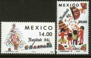 MEXICO 1368-1369 Christmas Holidays 1984 MNH