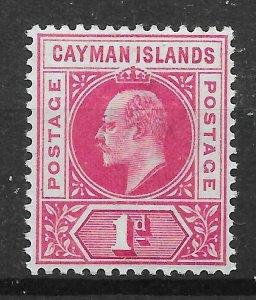 CAYMAN ISLANDS SG4 1903 1d CARMINE MTD MINT