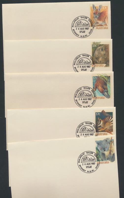 Australia PrePaid Envelope 1987  State Faunal Emblems  definitives