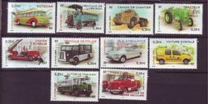 J20479 Jlstamps 2003 france set mnh #2980a-j transportation