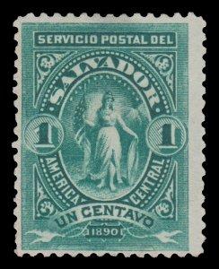 EL SALVADOR 1890 STAMP. SCOTT # 38. UNUSED.