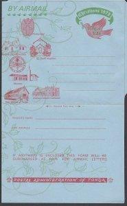 TONGA 1972 12s Christmas airletter unused - scarce..........................L466