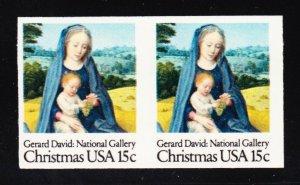 US 1799a 15c Christmas EFO Mint Pair XF OG NH SCV $70