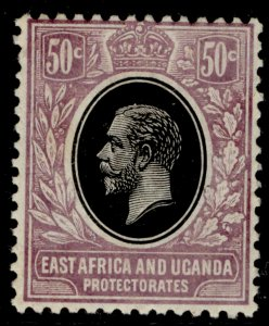 EAST AFRICA and UGANDA GV SG51, 50c black and lilac, M MINT.