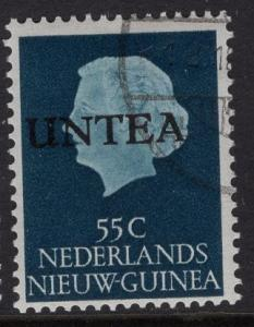 Netherlands West New Guinea UNTEA  #14 UN temporary authority 1962 cancelled 55c