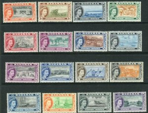 ASCENSION-1938-53  A mounted mint set to 10/- Sg 38b-47b