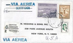 ARGENTINA -  POSTAL HISTORY - REGISTERED AIRMAIL COVER to USA - 1978