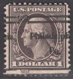 US Stamp #342 $1 Violet Brown Washington USED SCV $95.00