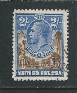 NORTHERN RHODESIA 1925-29 2s BROWN & ULTRAMARINE FU SG 11 CAT £48