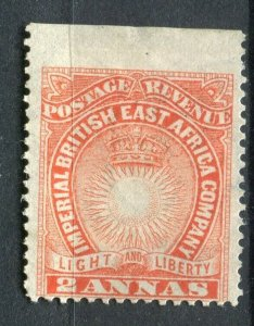 BRITISH KUT; 1890s classic East Africa Company issue Mint hinged 2a. Marginal