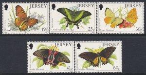 727-31 Butterfly & Moth MNH