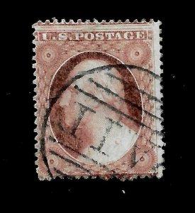 US 1857  Sc# 25 Washington Type I USED - Paid Cancel  - Crisp Color