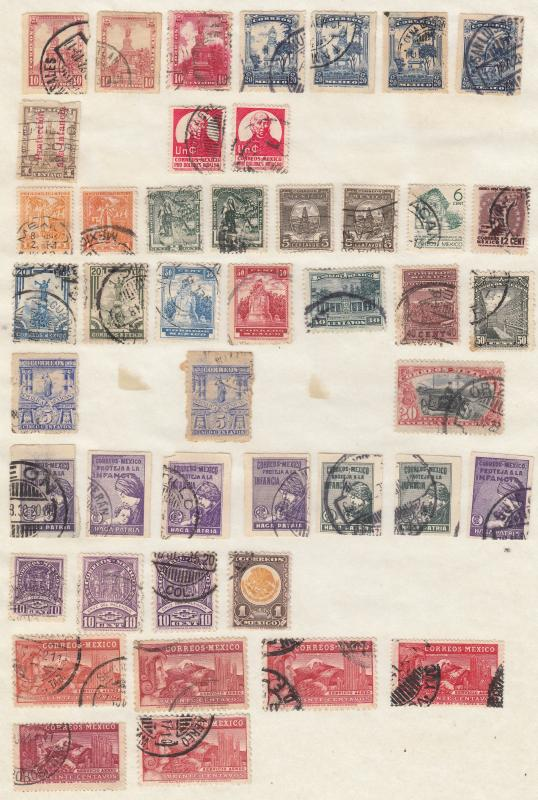 Mexico - small stamp collection - (1779)