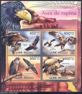 GUINEA BISSAU 2012 BIRDS OF PREY  SHEET MINT NH