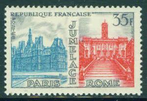 FRANCE Scott 892 Yvert 1176 mnh** Jumelage 1958