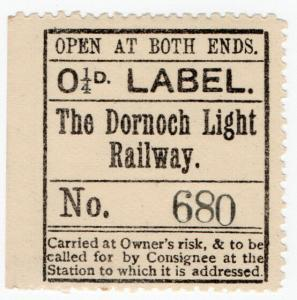 (I.B) The Dornoch Light Railway : Newspaper Parcel ¼d