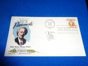 FLEUGEL MULTI COLORED CACHET FDC:  US SCOTT#  1160