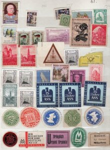 COLLECTION OF CINDERELLA STAMPS ON TWO PAGES