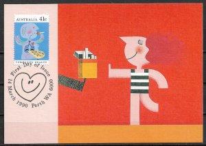 1990 Australia 1170 Community Health: Quit Smoking Maximum Card