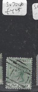 TURKS  ISLANDS (P3009B)  QV 1/2 D  SG 70       VFU