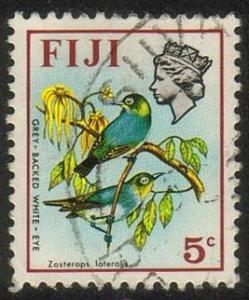 Fiji #309 - Gray-backed White Eyes - Used (Fi-011)