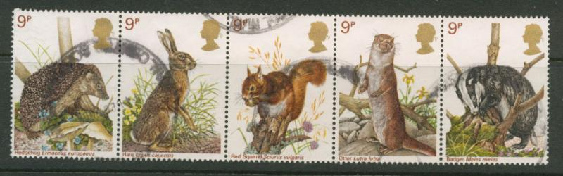 Great Britain QE II  SG 1039a  VFU  se-tenant strip of five