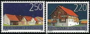 HERRICKSTAMP LIECHTENSTEIN Sc.# 1295-96 MINT NH Stamp Set