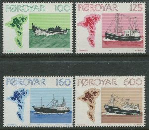 STAMP STATION PERTH Faroe Is. #24-27 Pictorial Definitive Issue MNH 1973 CV$1.00