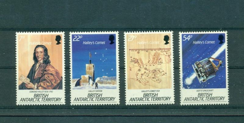 Br. Antarctic Terr. - Sc# 129-32. 1986 Halleys Comet. MNH $9.75.