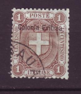 J19805 Jlstamps 1895-9 eritrea used #12 ovpt