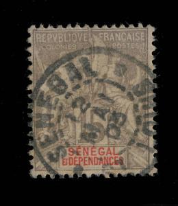 SÉNÉGAL - 1903 - CACHET  SÉNÉGAL / St-LOUIS SUR N°23 15c GRIS TYPE GROUPE