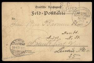 Germany 1900 China Boxer Rebellion MSP28 Dampfer Batavia Feldpost Cover 85607